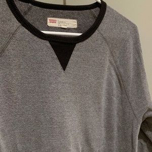 Levi's Gray/Black Casual Sweatshirt W Pocket ( L )